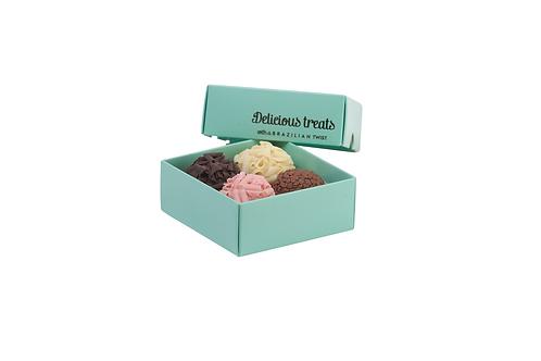 Box of 4 brigadeiros - foil printed lid