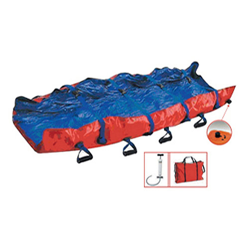 BRANCARD EVAUCATION MATELAS COQUILLE A DEPRESSION
