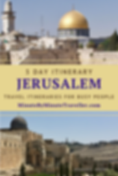 Jerusalem itinerary in 5 days