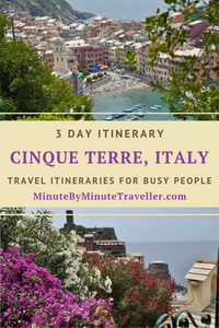 Cinque Terre itinerary in 3 days