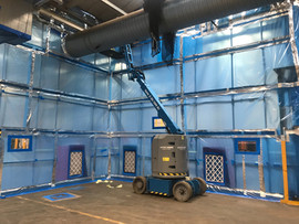 Large Enclosure Under Negative Pressure