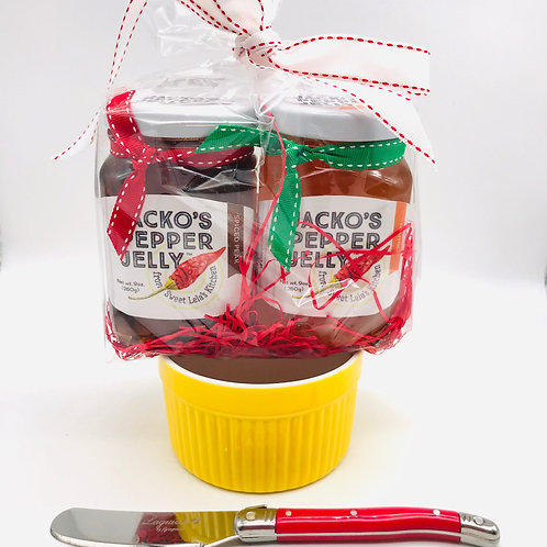 Gift Set #3:  Two Jellies, Ramekin & Knife