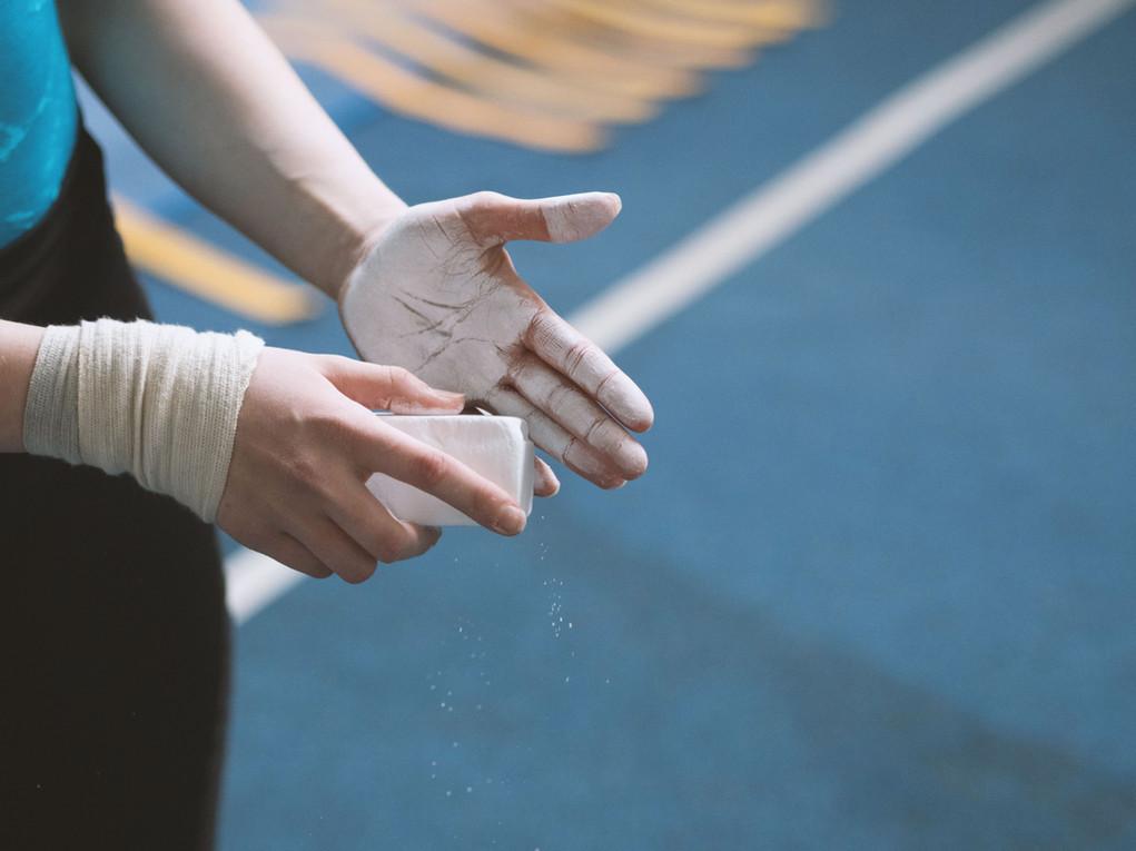 Kreidung Hände