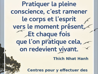 Centres de Pratiques de la Pleine Conscience (RETRAITES)