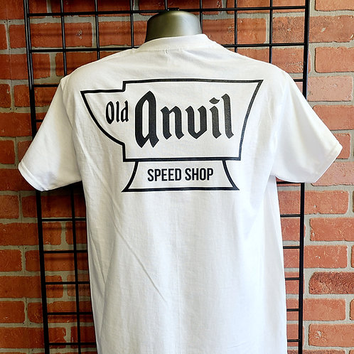 Old Anvil Speed Shop T-Shirt - White