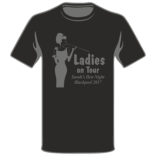 Ladies On Tour Black T-Shirt, Hen Night T-Shirt, Hen Do T-Shirt, Funny T-Shirt, Joke T-Shirt, Classic T-Shirt