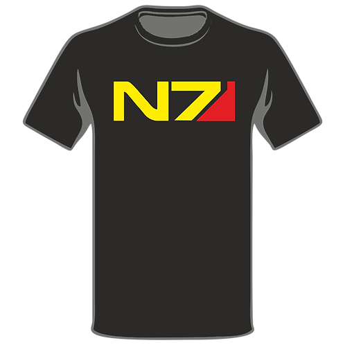 Mass Effect N7 T-Shirt, Video Game T-Shirt, Gamer T-Shirt, Xbox T-Shirt, Playstation T-Shirt, Arcade T-Shirt