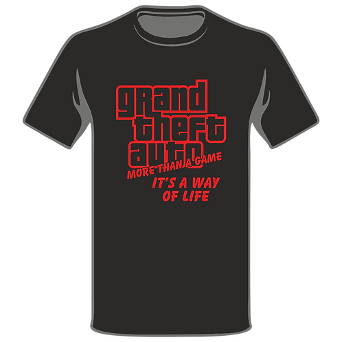 GTA Way Of Life T-Shirt, Video Game T-Shirt, Gamer T-Shirt, Xbox T-Shirt, Playstation T-Shirt, Arcade T-Shirt