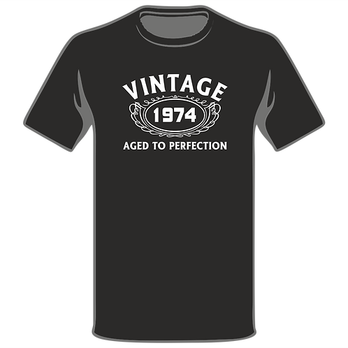 Vintage Aged To Perfection T-Shirt, Birthday T-Shirt, Funny T-Shirt, Joke T-Shirt, Humor T-Shirt, Classic T-Shirt