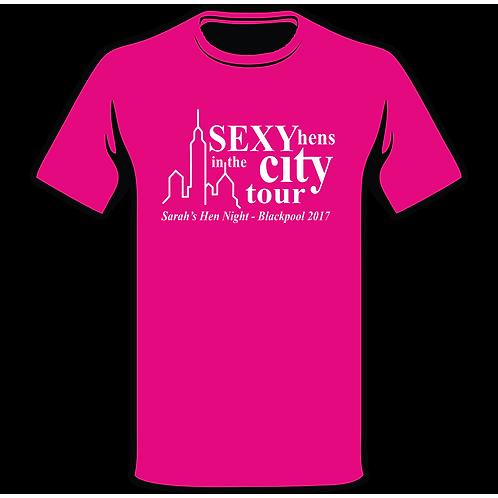 Sex In The City Pink T-Shirt, Hen Night T-Shirt, Hen Do T-Shirt, Funny T-Shirt, Joke T-Shirt, Classic T-Shirt