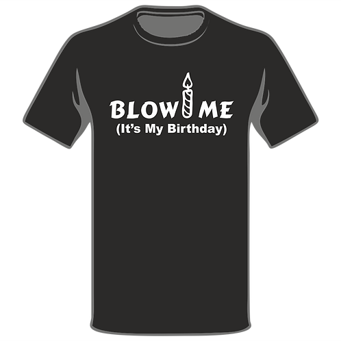 Blow Me Its My Birthday T-Shirt, Birthday T-Shirt, Funny T-Shirt, Joke T-Shirt, Humor T-Shirt, Classic T-Shirt