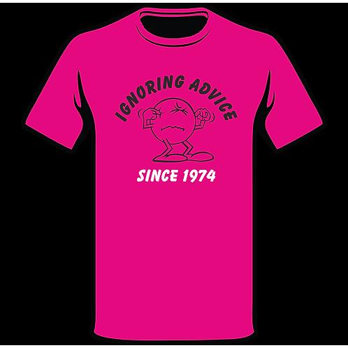Ignoring Advice Since T-Shirt, Birthday T-Shirt, Funny T-Shirt, Joke T-Shirt, Humor T-Shirt, Classic T-Shirt