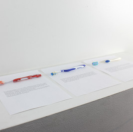 Toothbrush as a Measurement of Time 2017 Toothbrushes, copier paper, text