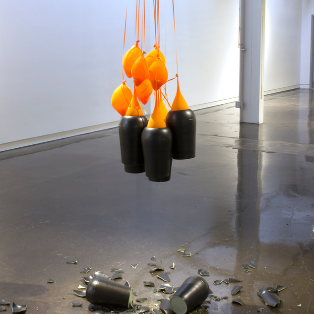 Say it with Flowers 2017 ceramic pots, balloons, streamers
