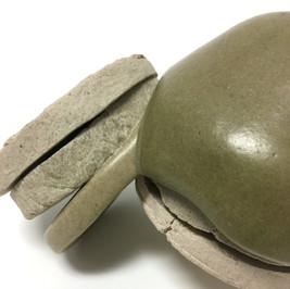 Foggy Mint (detail) 2018 Ceramic materials