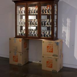 Daily Uniform 2017 Cardboard boxes, hutch, figurines