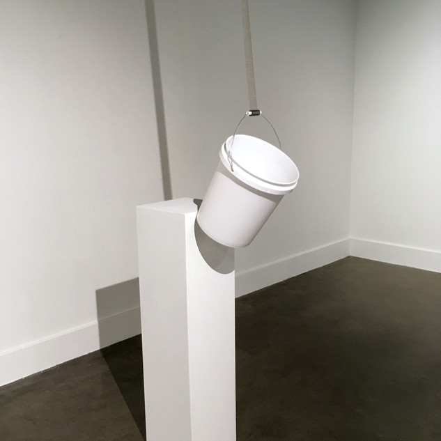 An Unconquerable Instinct 2017 Pedestal, bucket, duct tape