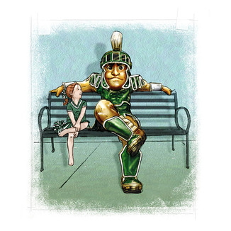 Sparty in Bronze