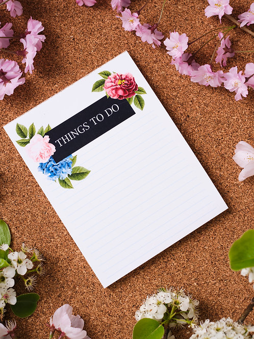 Things To Do Note Pad