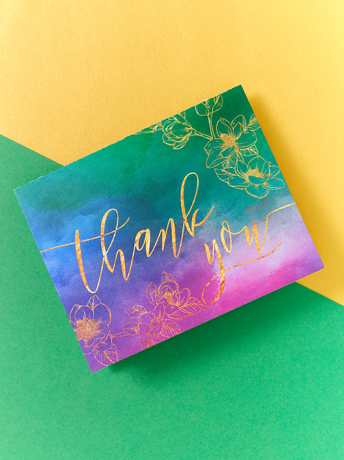 Thank You Watercolor Card