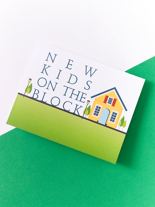 New Kids On The Block Card