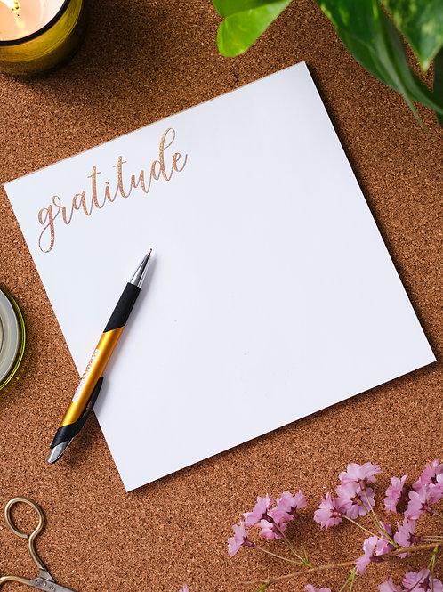 Gratitude Note Pad
