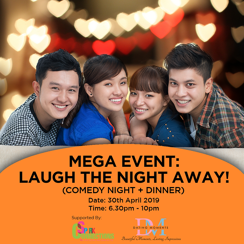 (FULL!) MEGA EVENT: Laugh the Night Away! (Comedy Night + Dinner) (50% OFF!)