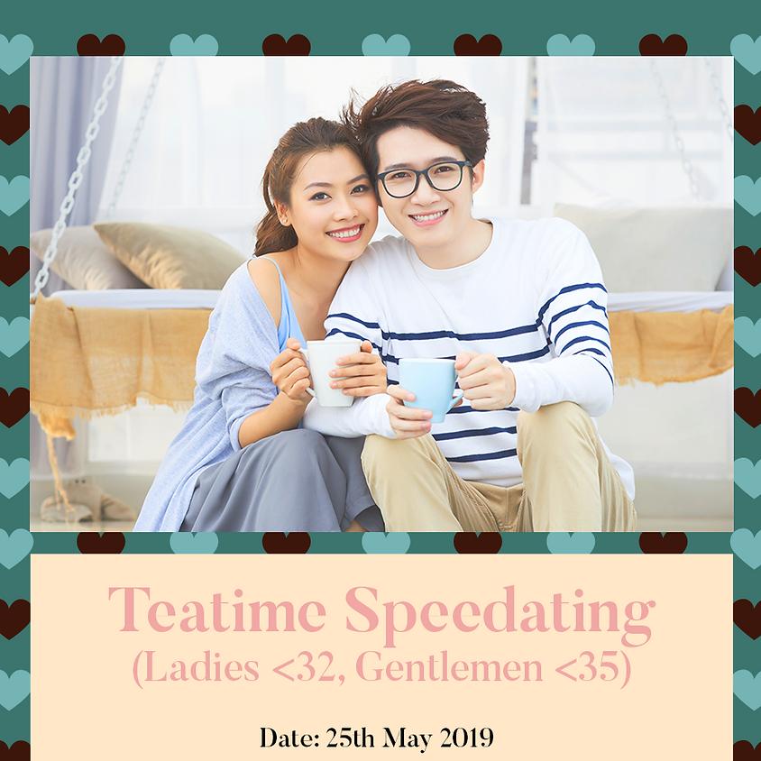 Teatime Speedating (Ladies < 32, Gentlemen < 35)