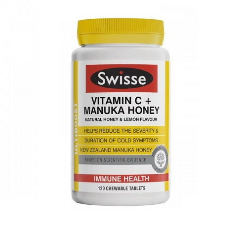 Swisse VC+Manuka Honey 120t 维生素C+麥蘆卡蜂蜜120粒