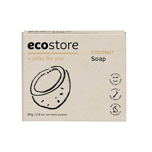 Ecostore Coconut Soap 80g 纯天然椰子味香皂