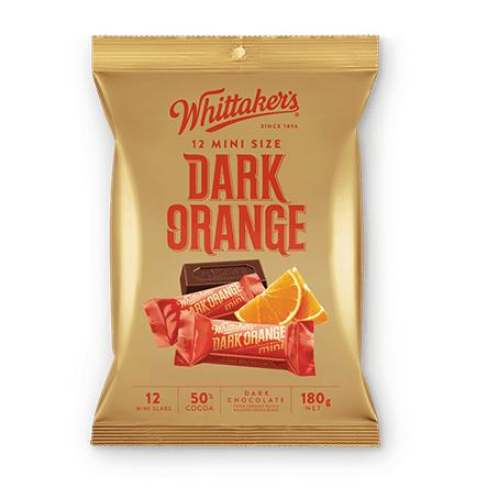 Whittakers Mini Size Dark Orange Slab (12pcs/180g) 香橙黑朱古力