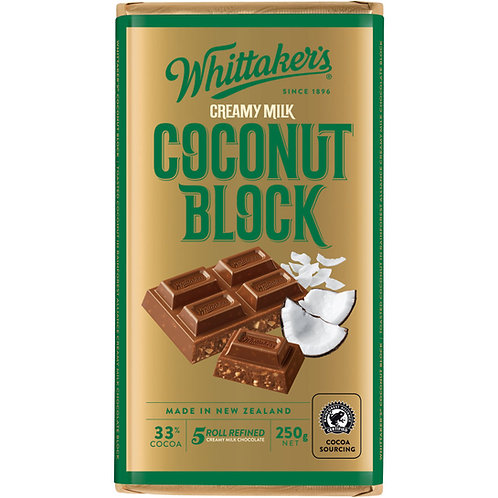 Whittakers Coconut Block 250g 椰子朱古力