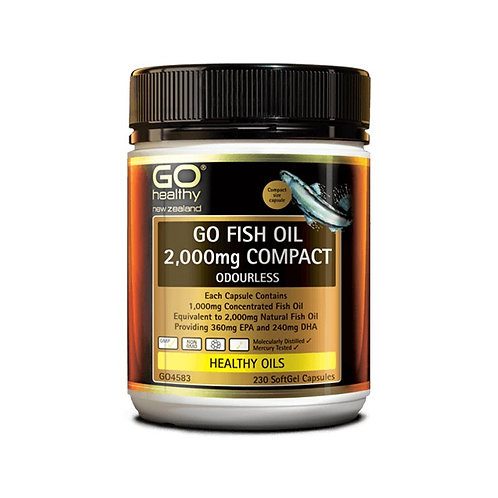Go Healthy Fish Oil 2,000mg Odourless Capsules 230c 無腥味魚油膠囊230粒