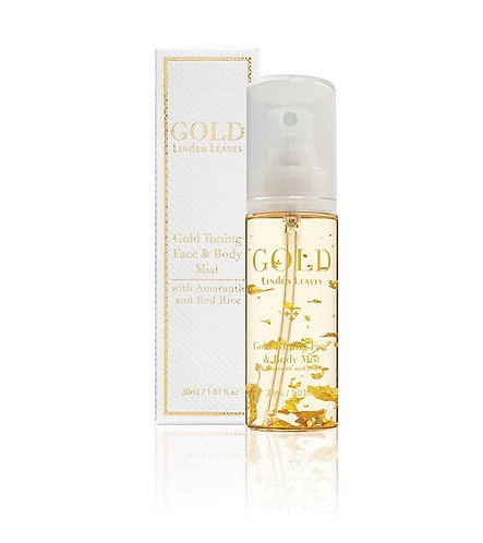Linden Leaves Gold Toning Face & Body Mist 100ml 金箔爽膚噴霧