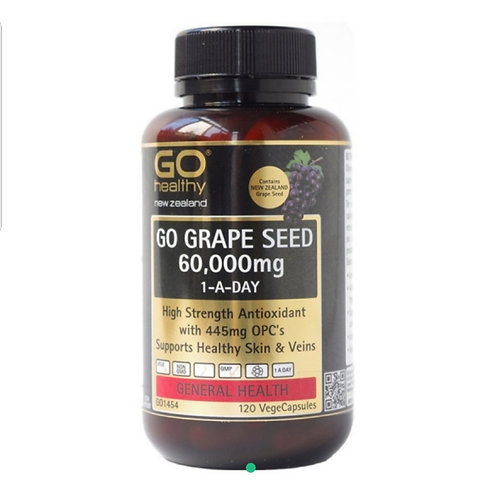 Go Healthy Go Grape Seed 60,000mg 120c 高含量葡萄籽膠囊
