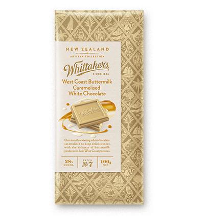 Whittakers West Coast Buttermilk Caramelised White Chocolate Block 100g 奶油焦糖白朱古力