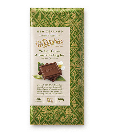 Whittakers Waikato Grown Aromatic Oolong Tea Block 100g 烏龍茶黑朱古力