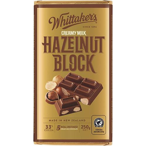 Whittakers Hazelnut Block 250g 榛子朱古力