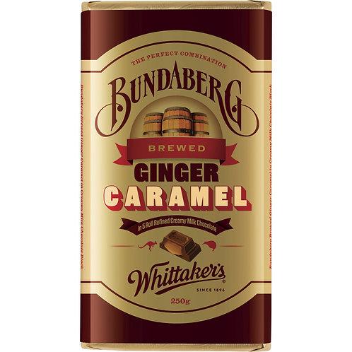 Whittakers Bundaberg Ginger Caramel Milk Chocolate Block 250g