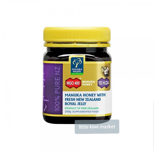 Manuka Health Manuka Honey MGO400+ with Fresh NZ Royal Jelly 250g 麥蘆卡蜂蜜含新鮮蜂皇漿