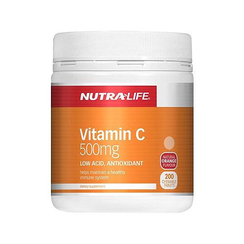 Nutralife Vitamin C 500mg 200pc 維生素c 500mg 咀嚼片200片
