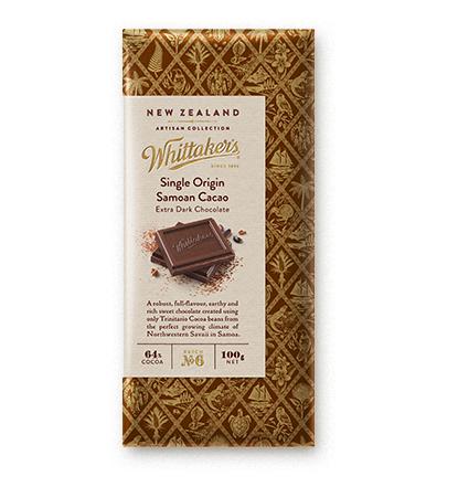 Whittakers Single Origin Samoan Cacao Block 100g 薩摩亞朱古力