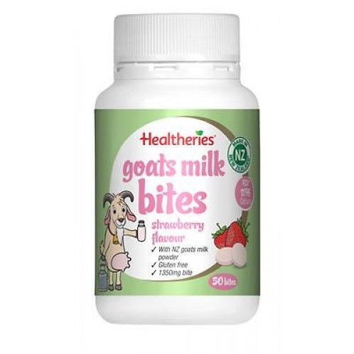 Healtheries Goats Milk Bites Strawberry 50t 羊奶片草莓味50粒
