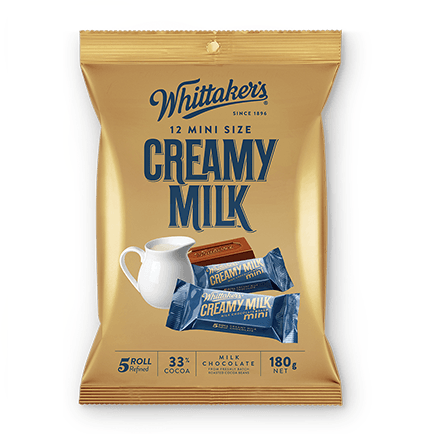 Whittakers Mini Size Creamy Milk Slab (12pcs/180g) 牛奶朱古力