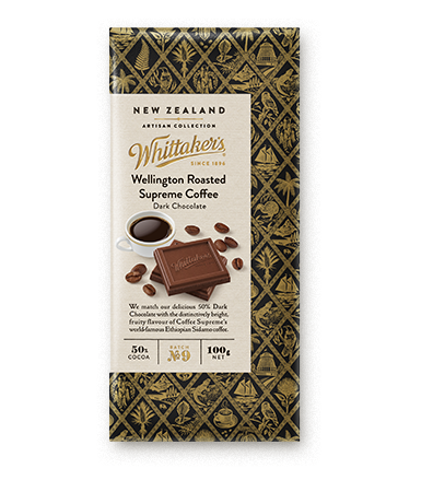 Whittakers Wellington Roasted Supreme Coffee Block 100g 咖啡黑朱古力
