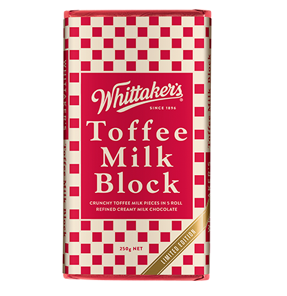 Whittakers Toffee Milk Block 250g 奶糖朱古力