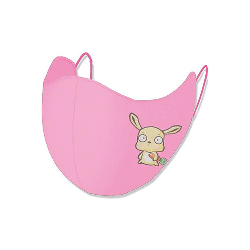 Okioki Kids Antibacterial Face Mask Pink 1pc 兒童抗菌口罩 粉紅色 單只装