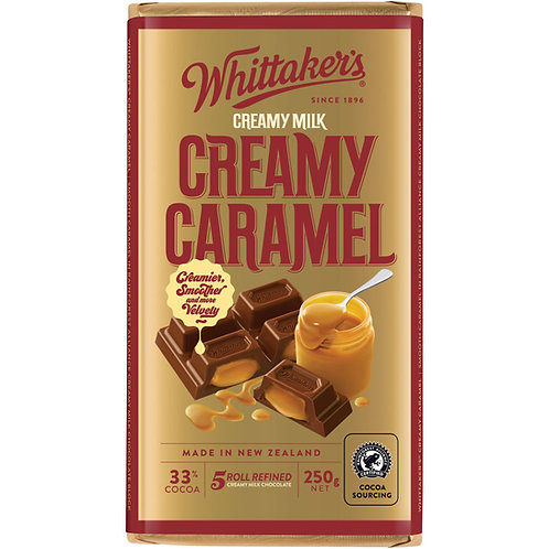 Whittakers Creamy Caramel Block 250g 香滑焦糖朱古力