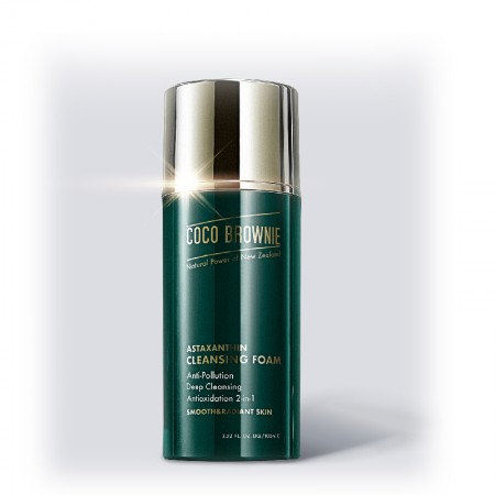 Coco Brownie Astaxanthin Foam Cleanser 100ml 蝦青素抗氧提亮潔面乳100ml