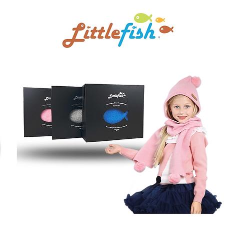 Littlefish Alpaca & Wool Scarf 兒童駝羊羊毛圍巾帽